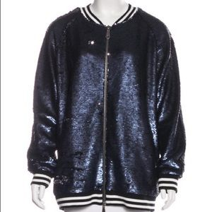 Rebecc Minkoff Tessa Sequined Bomber Jacket